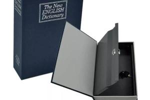 libro caja fuerte camuflada