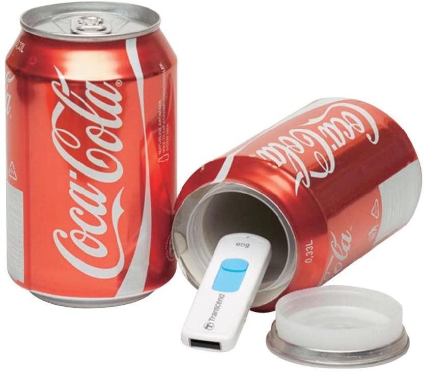 lata de cocacola falsa